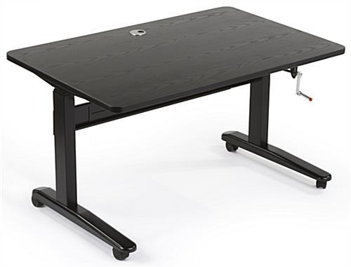 hand crank stand up desk